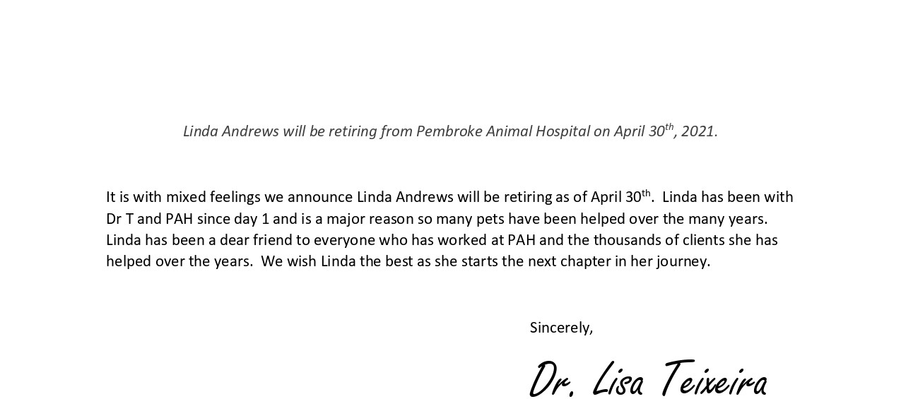 Linda Announcement
